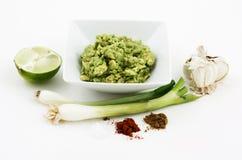 Bestandteile für Guacamolen Stockbild