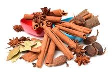 Bestandteile für Tee mit Gewürzen Stockfotos