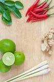 """Bestandteile für Thai's-Küche """"TOM YUMâ€- Lizenzfreies Stockfoto"""