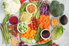 Bestandteile für vegetarische Snackbuddha-Schüssel Lizenzfreies Stockbild