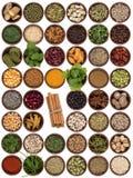 Bestandteile kochen - Aroma und Würze Stockfotografie