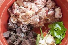 Bestandteile Localfood Thailand Stockbild