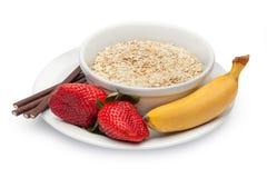 Bestandteile zum ein gesundes Frühstück stockfoto