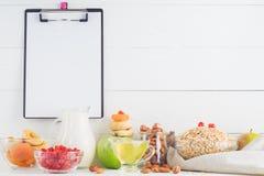Bestandteile zum gesundes Frühstück Lizenzfreies Stockfoto