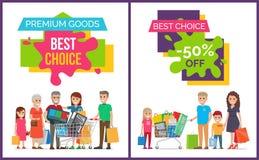Beste auserlesene und erstklassige Waren-Vektor-Illustration Lizenzfreie Stockfotos