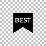Beste beschriftende Textikone flach stock abbildung
