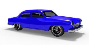 Beste blauwe sportwagen Royalty-vrije Stock Afbeeldingen