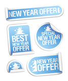 Beste de aanbiedingsstickers van het Nieuwjaar. Royalty-vrije Stock Afbeeldingen