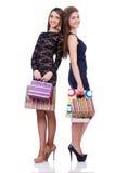 Beste Freunde afte Einkaufen Stockfoto