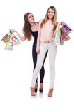 Beste Freunde afte Einkaufen Lizenzfreie Stockfotografie