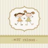 beste Freunde der kleinen Mädchen Stockbilder
