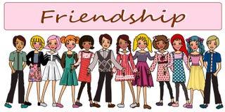 Beste Freunde für immer lizenzfreie abbildung