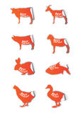 Beste geplaatste vleesstickers Royalty-vrije Stock Fotografie