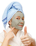 Beste Gesichtsmaske für eine gesunde Haut Lizenzfreies Stockbild