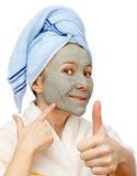 Beste gezichtsmasker voor een gezonde huid Royalty-vrije Stock Afbeelding