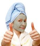 Beste gezichtsmasker voor een gezonde huid Royalty-vrije Stock Fotografie
