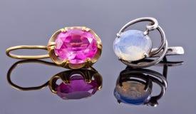 Beste gift voor meisje - gouden juwelen stock afbeelding