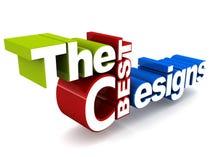 Beste grafische ontwerpen Royalty-vrije Stock Afbeelding