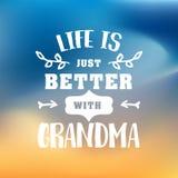 Beste Großmutter handgeschrieben im Weiß stock abbildung