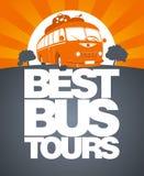 Beste het ontwerpmalplaatje van de busreis. Royalty-vrije Stock Fotografie