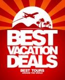 Beste het ontwerpmalplaatje van vakantieovereenkomsten. Stock Foto's