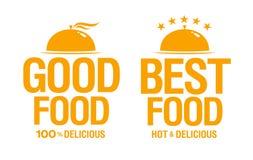 Beste köstliche Nahrungsmittelzeichen. Lizenzfreie Stockfotografie
