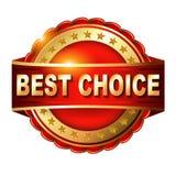 Beste keus rood etiket met Royalty-vrije Stock Afbeeldingen