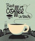 Beste koffie in stad Royalty-vrije Stock Afbeelding