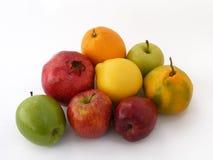 Beste Kopienraumgrün-Apfel- und Rotapfelbilder Stockfoto