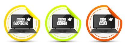 Beste laptop Beste prijs Grote verkoop royalty-vrije illustratie
