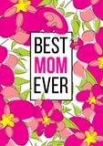 Beste Mamma ooit vector illustratie
