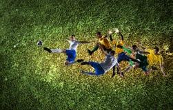 Beste Momente des Fußballs stockbilder