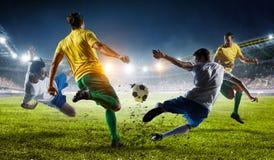 Beste Momente des Fußballs Gemischte Medien stockbild