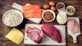 Beste Nahrungsmittel hoch im Protein stockbilder