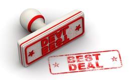 Beste Overeenkomst Verbinding en afdruk vector illustratie
