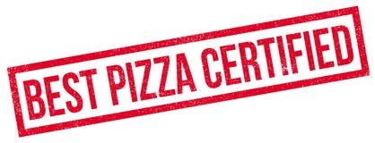 Beste Pizza zugelassener Stempel Lizenzfreies Stockbild