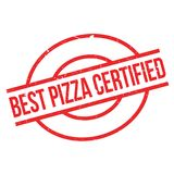 Beste Pizza zugelassener Stempel Lizenzfreie Stockbilder