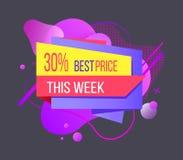 Beste Prijs Deze Week 30 Percenten van Bannervector vector illustratie