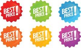 Beste prijs glanzend pictogram Stock Fotografie
