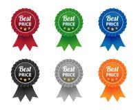 Beste prijsetiketten Stock Fotografie