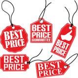 Beste prijskaartjereeks, vectorillustratie Stock Fotografie