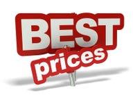 Beste prijzenmarkering Stock Foto's