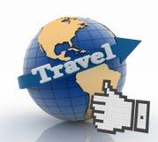 Beste reisbol en vakantieconcept Stock Fotografie