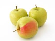 Beste rote grüne und gelbe Apfelbilder für gesundes Leben Stockfoto