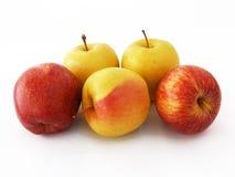 Beste rote grüne und gelbe Apfelbilder für gesundes Leben Lizenzfreies Stockbild