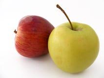 Beste rote grüne und gelbe Apfelbilder für gesundes Leben Stockfotografie