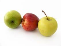 Beste rote grüne und gelbe Apfelbilder für gesundes Leben Stockbilder