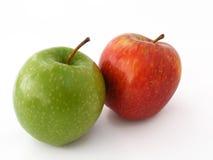 Beste rote grüne und gelbe Apfelbilder für gesundes Leben Lizenzfreie Stockfotos