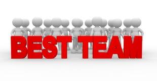 Beste team Royalty-vrije Stock Afbeeldingen