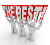 Beste Team Lifting Words Top Winners feiern lizenzfreie abbildung